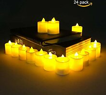 24 PCS LED Teelichter Flackernd, TechKen