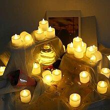 24 PCS LED Teelichter Flackernd,TechKen Teelichter