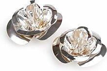 24 Rosen 2fach Blech veredelt , silber ca. D:4/6cm