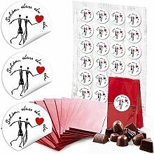 24 rote Papiertüte Boden-Beutel