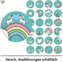 24 Schmucketiketten | Selbstklebend | Einhorn /