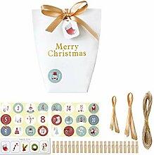 24 Sets Weihnachten 1-24 Adventskalender Keks