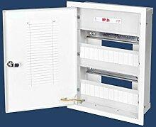 24 Sicherungen Sicherungskasten stahlverzinkt Unterputz Unterputzverteiler Stromverteiler