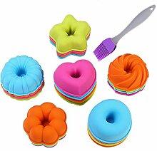 24 Stück Donut Kuchenformen Set KeepingcooX -