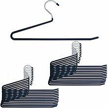 24 Stück hochwertige Metall Hosenbügel Hosen Bügel Gummiert Rutschfest 35cm