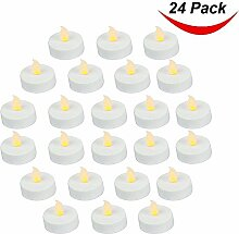 24Stück LED-Teelicht-Kerzen, Realistisch und