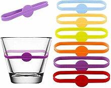 24 Stück weiche Silikon-Tassen-Etiketten,