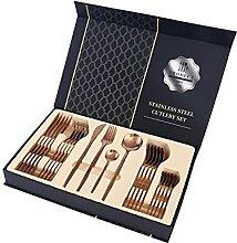 24 stücke Messer Gabel Löffel Gold Geschirr Set