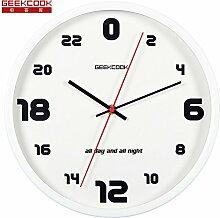 24 Stunden Metall Kunst Simple Wall Clock Tisch Wohnzimmer Schlafzimmer Büro Creative Individualität Design Clock