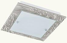 24 Watt LED Decken Lampe Leuchte Stahl Glas mit