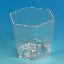 24x 6cl klar Einweg Kunststoff Miniatur
