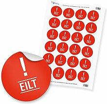 """24 x itenga Hinweis Aufkleber Sticker """"Eilt"""""""