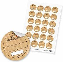 """24 x itenga Sticker Aufkleber Etikett """"100%"""