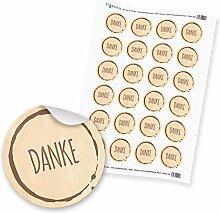 """24 x itenga Sticker Aufkleber Etikett """"Danke"""