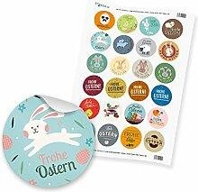 24 x itenga Sticker Aufkleber Etikett Frohe Ostern
