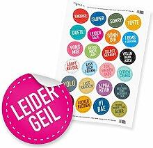 "24 x itenga Sticker Aufkleber Etikett ""Jugend"