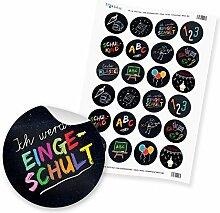 24 x itenga Sticker Aufkleber Etikett