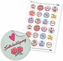 "24 x itenga Sticker Aufkleber Etikett ""Vintage"