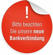 """24 x itenga Sticker """"Hinweis Bankverbindung"""""""