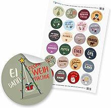"""24 x itenga Sticker """"Weihnachten Mix Saarland"""""""