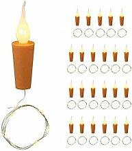 24 x LED Flaschen-Lichterkette mit Kerzenkorken