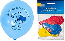 240 x Luftballons Luftballon Ballon Happy Birthday