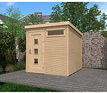 244 cm x 244 cm Gartenhaus Weka Farbe: Hellbraun