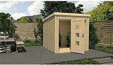 244 cm x 244 cm Gartenhaus Weka