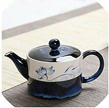 245ml Kreative Teekanne Handgemalte Lotus Muster