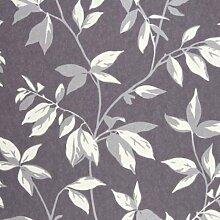 24999106–Yellowstone grau Blätter casadeco