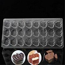 24er-Form für Pralinen, Schokolade und Kuchen,