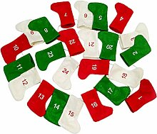 24PCS Weihnachtsstrümpfe, langlebiger weicher