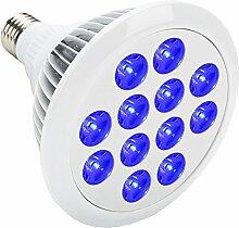 24W LED Pflanzenlampen Blau E27 Pflanze wachsen Licht für Hydropoics Gewächshaus