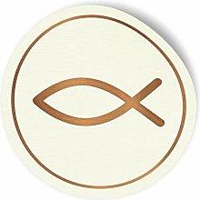 24x itenga Sticker Aufkleber Fisch Taufe Kommunion