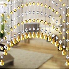 25/30 Strings Kristall Perlen Vorhänge Gewölbt