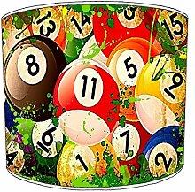 25,4cm Tabelle billiard, pool, snooker, 8 ball Childrens Lampenschirme 16