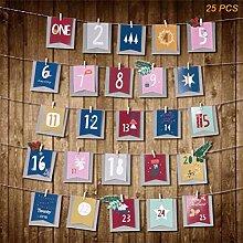 25 Adventskalender zum Befüllen Fröhlicher