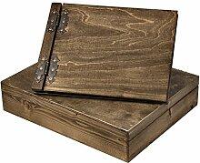 25 Blatt Fotoalbum ausgesuchte Holz Strukturen