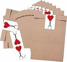 25 braune Geschenktüten Papiertüten für