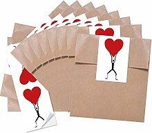 25 braune kleine Geschenktüten Papiertüten für