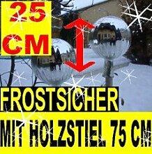 25 cm, Gartenkugel-Gartendeko Rosenkugel,Glas