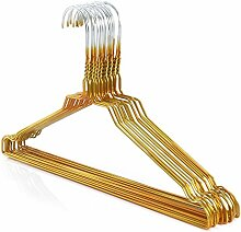 25 Drahtkleiderbügel verzinkt mit goldener Kunststoffbeschichtung, ca. 40,2 cm breit Hangerworld