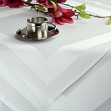 25 Gastronomie - Damast Tischdecken weiss ca.130 x 190 cm
