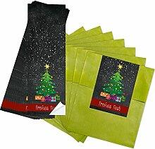 25 grüne kleine Papiertüten Geschenktüten 13 x