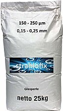 25 kg Strahlmittel Glasperlen Strahlglasperlen
