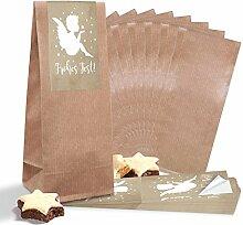 25 kleine braune Papiertüten mit Pergamin-Einlage
