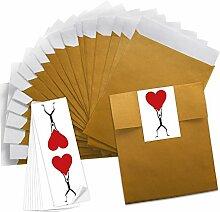 25 kleine Geschenktüten Papiertüten für