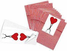 25 kleine rot weiß karierte Geschenktüten