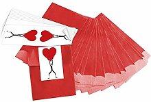 25 kleine rote Geschenktüten Papiertüten für
