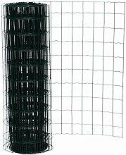 25 Meter Maschendrahtzaun Gitterzaun Drahtzaun grün Höhe 100 cm Maschenweite 7,5 x 10 cm Gartenzaun